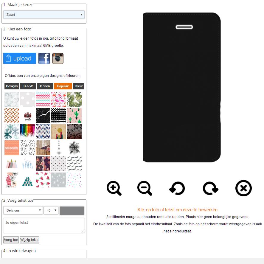 iPhone 5 portemonnee hoesje ontwerpen