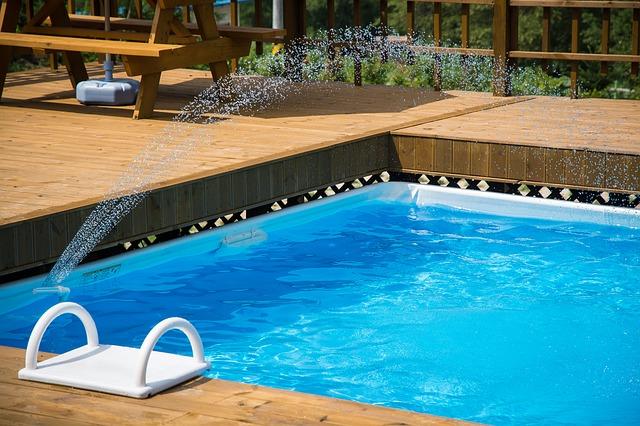 houten zwembad