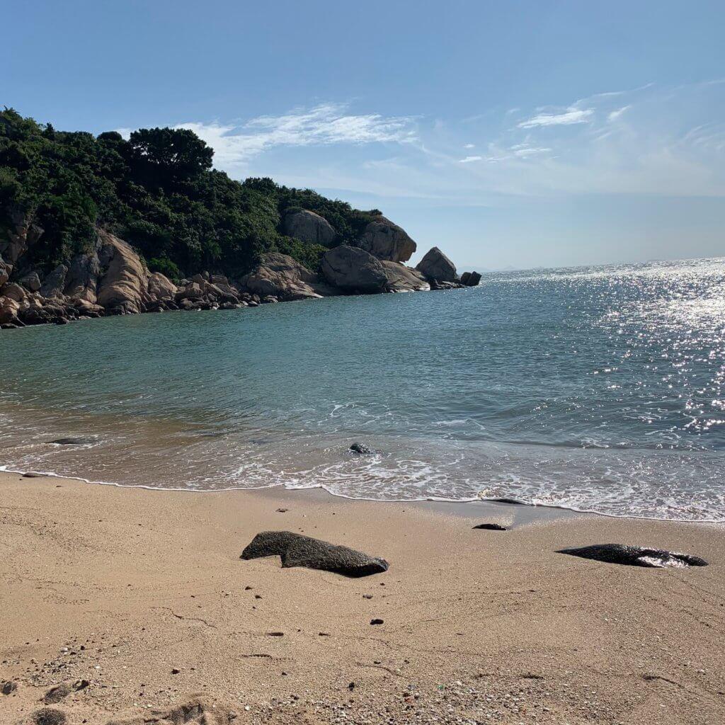 strand van Pak Tso Wan op Cheung Chau