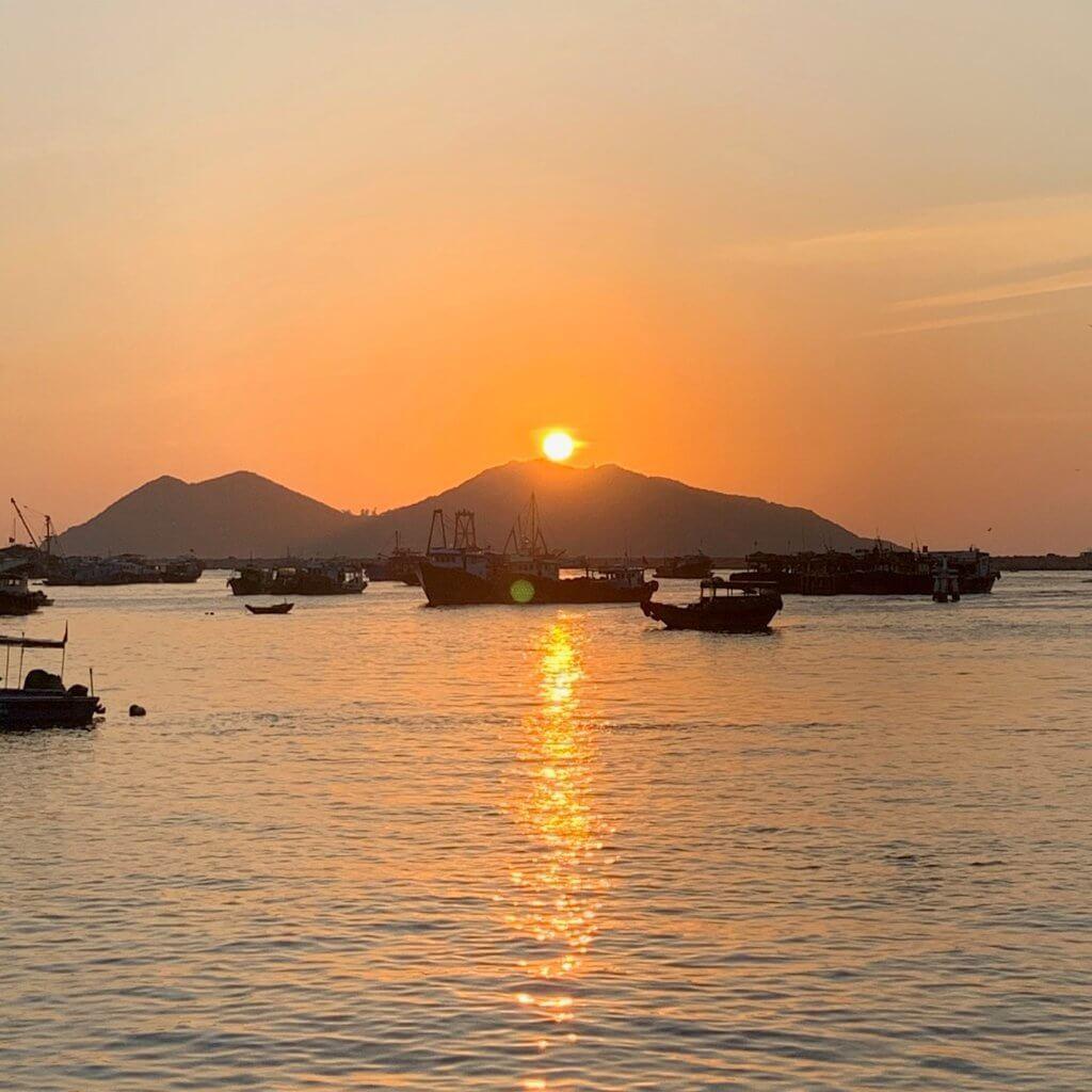 zonsondergang Cheung chau